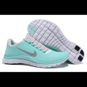 Nike Free Run 3.0 rare Tiffany blue